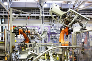 Hitachi machine building car