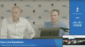 Clayton Meyer and Alan Bunyard sharing highlights from Cisco Live 2018