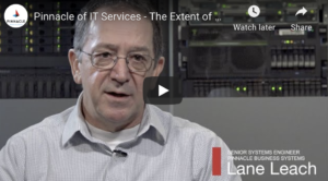Lane Leach, engineer for Pinnacle pictured on Video
