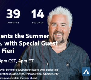 Guy Fieri, Arctic Wolf, and Pinnacle roundtable event